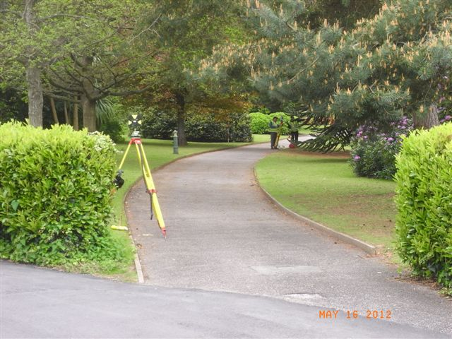 First surveyor work spotted in Knowle parkland (May 2012)